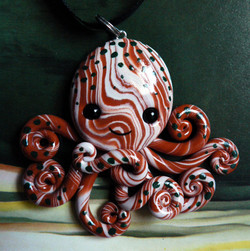 woodland_octopus_necklace_charm_by_blackmagdalena-d4o0uzh