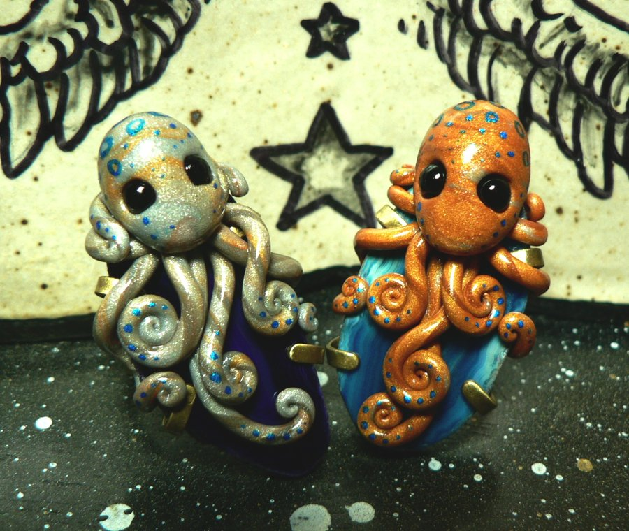 silver_and_gold_octopus_rings_by_blackmagdalena