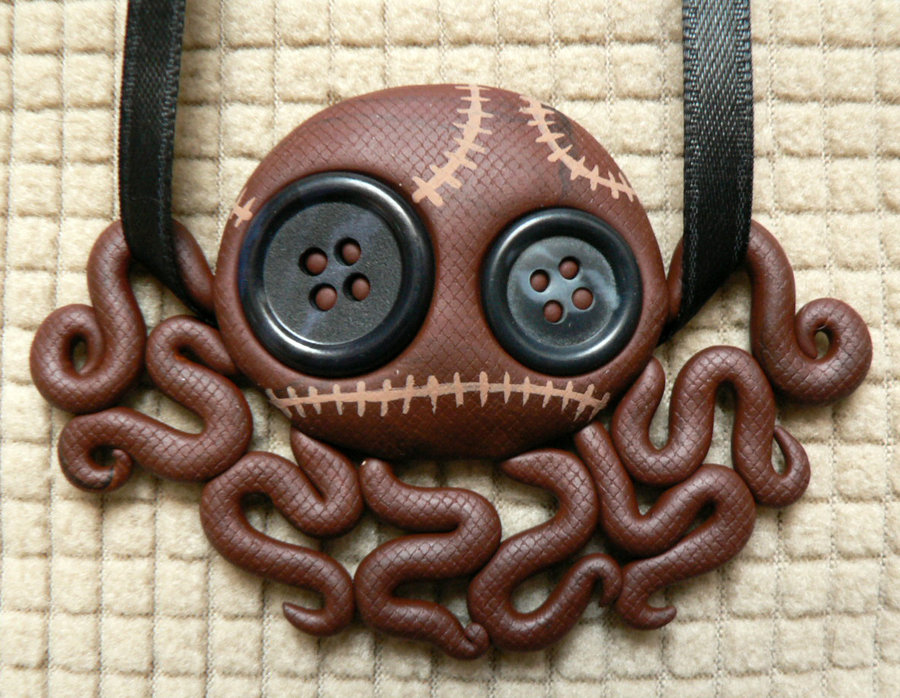brown_stitchpunk_octopus_doll_necklace_by_blackmagdalena-d4o0vpb