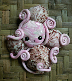 octopus_shell_hoarder_magnet_by_blackmagdalena-d4ezb77