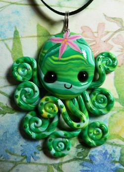 tropical_flower_octopus_necklace_by_blackmagdalena-d4j3ljm