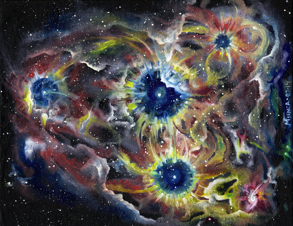 Stellar Nursury - Oil on canvas
