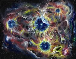Stellar Nursury - Oil on canvas