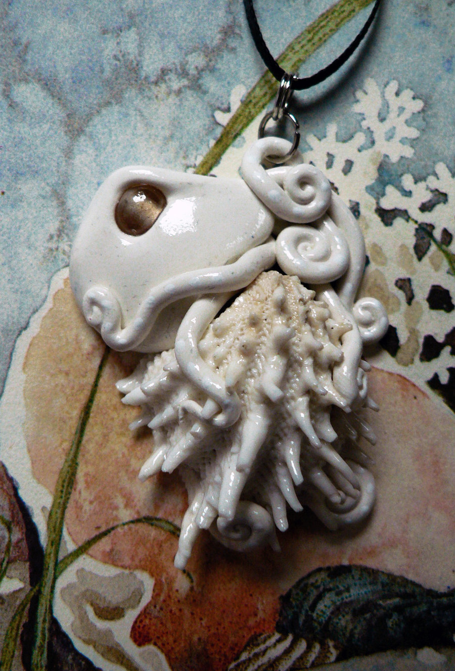 spiny_jewelbox_octopus_necklace_by_blackmagdalena-d4hhhlg