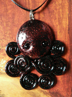 black_and_red_glittered_octopus_by_blackmagdalena-d4icn5q