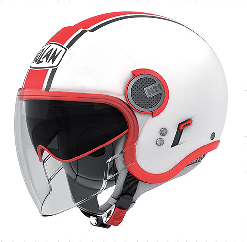 N21 VISOR 8 DUETTO WHITE & RED