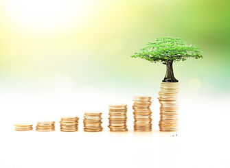 Endowment fund concept: Stacks of golden