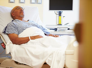 Senior Male Patient Resting In Hospital