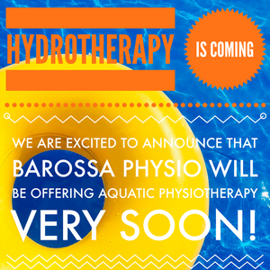 Hydrotherapy is Coming to Barossa Physiotherapy Clients!!