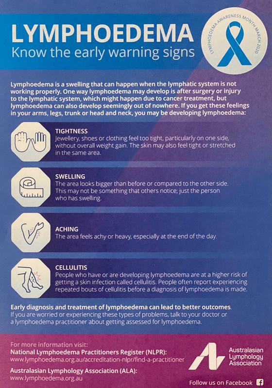 Lymphoedema Awareness Month