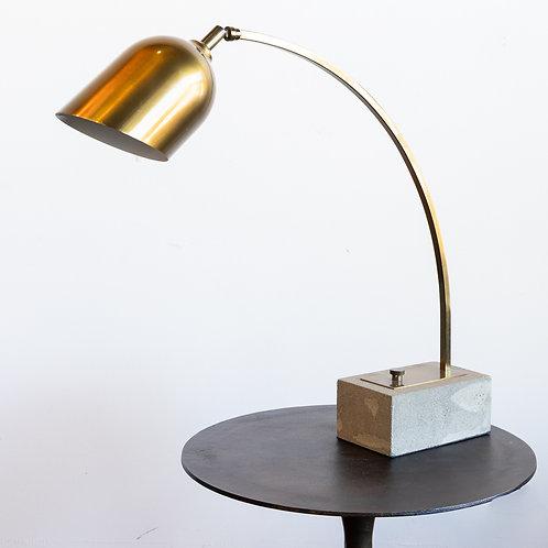 Brass Task Lamp Concrete Base