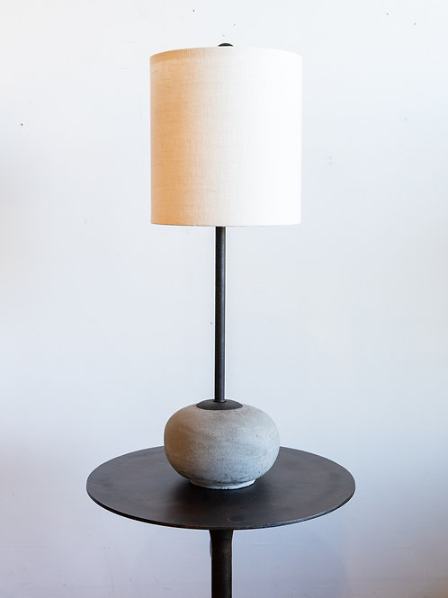 Round Concrete Table Lamp