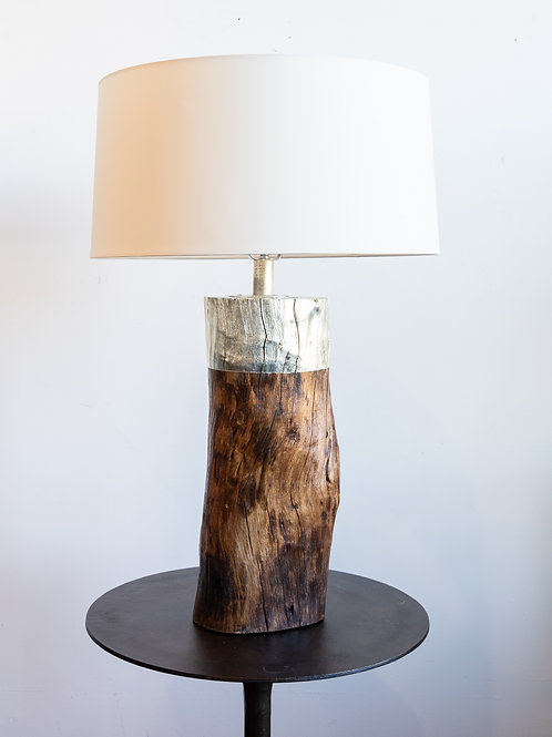 Emery Table Lamp Silver Log
