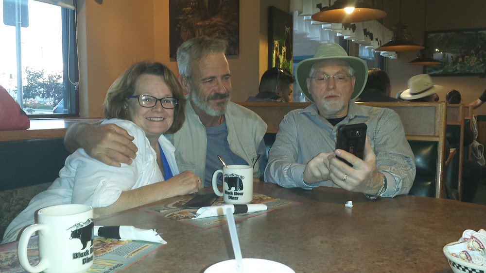 With Henry and Eleanor Pauls, stopping to eat on the way Fresno from LAX