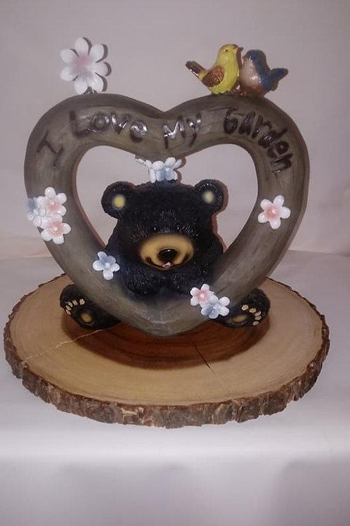 Bear/Heart Wood Centerpiece
