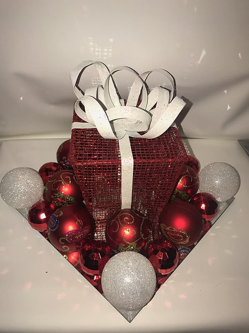 Red Holiday Gift Centerpiece