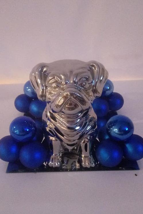Bulldog Puppy Candle Centerpiece