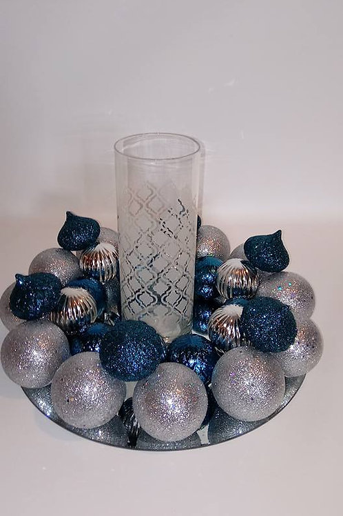 Teal and Silver Centerpiece