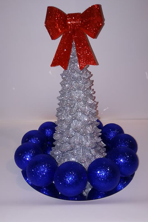 Silver Glitter Tree Centerpiece