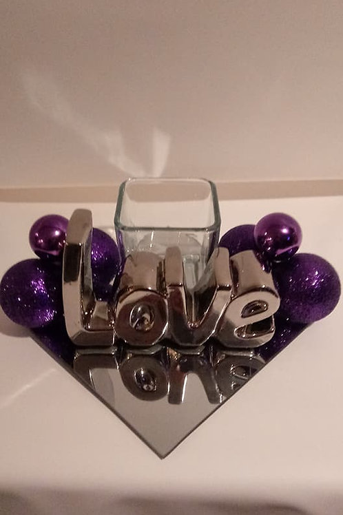 Silver Love Centerpiece