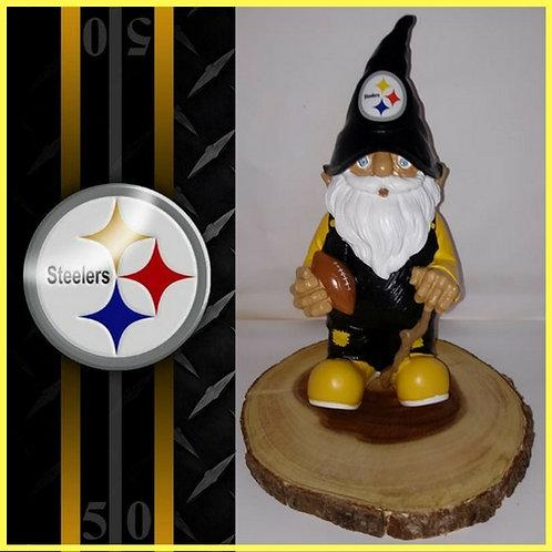 Steelers Garden Gnome Wood Centerpiece