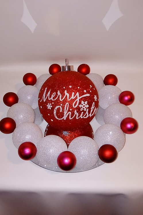 Merry Christmas Oversized Ornament Centerpiece