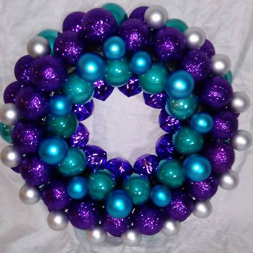 Teal and Purple Wreath