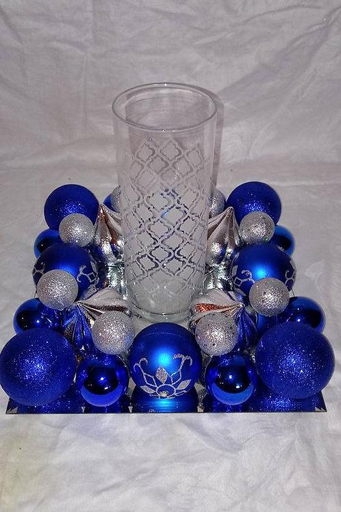 Blue & Silver Square Centerpiece