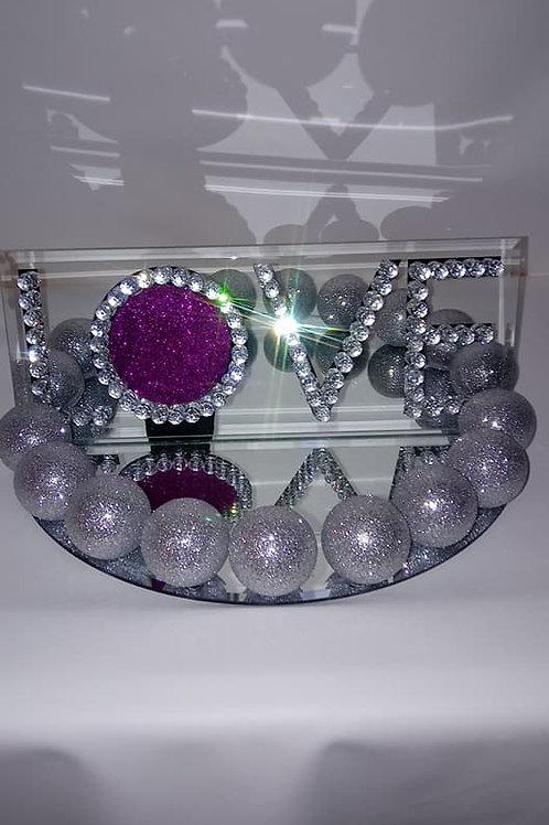Glass Love Jewel Centerpiece
