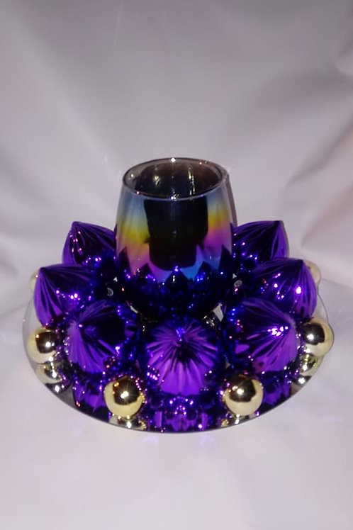 Iridescent Candle Holder Centerpiece