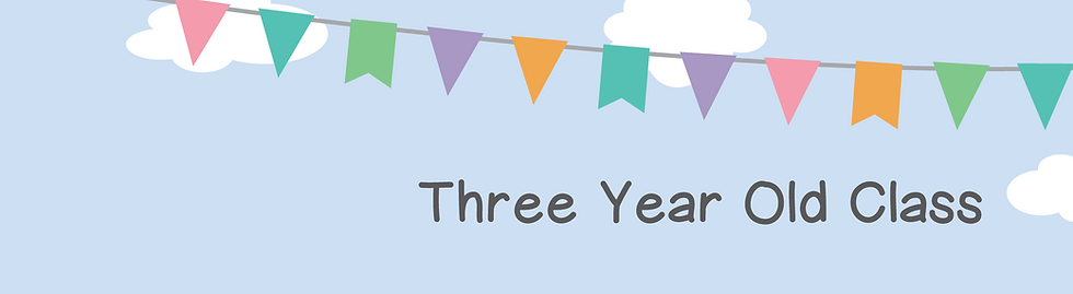 Three Year Olds Banner