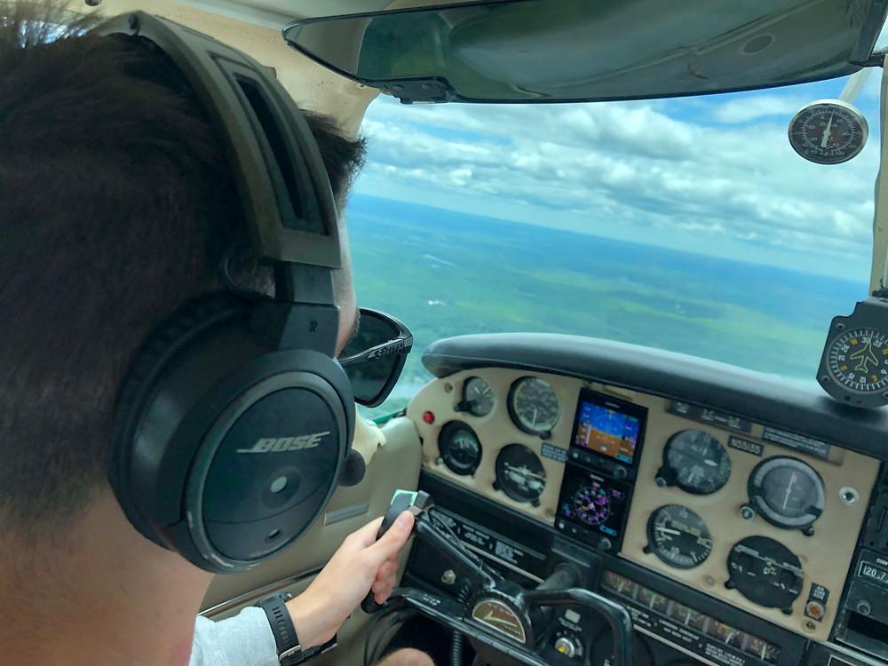 Luke, our next Top Gun making flying look easy!
