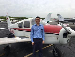 Stan Tran earns Private Pilot Certificate