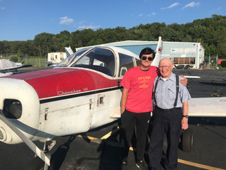Tyler Micheinzi earns Private Pilot Certificate