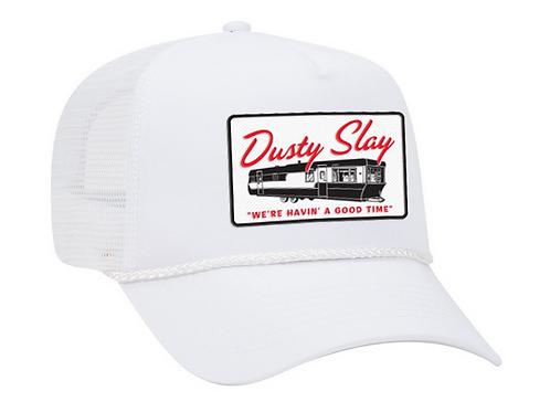White Mobile Home Trucker Hat