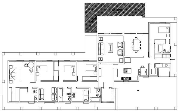 Casa 320m2  Pirque - Planta de Arquitect