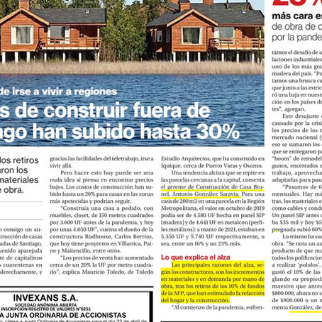 NOS ENTREVISTARON EN EL DIARIO LA SEGUNDA: AUMENTO DE COSTOS DE CONSTRUCCIÓN 2021