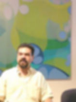 Pablo Candal at a conference on abstract art in 2009