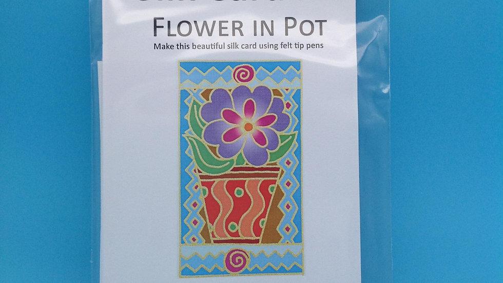 Silk Card Kit - Flower in pot