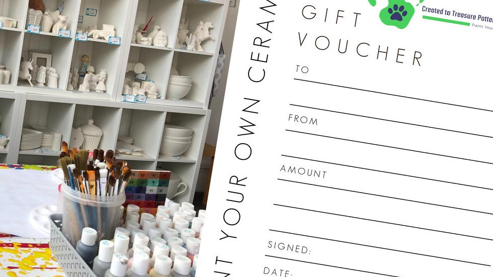 Paint Your Own Ceramics Gift Voucher