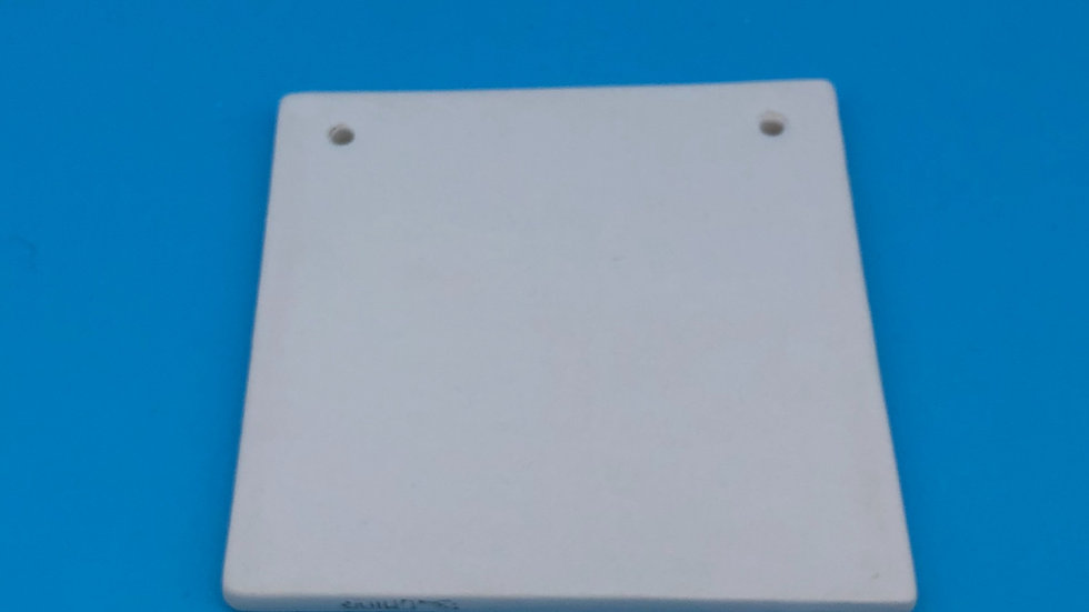 Square Plaque with 2 holes