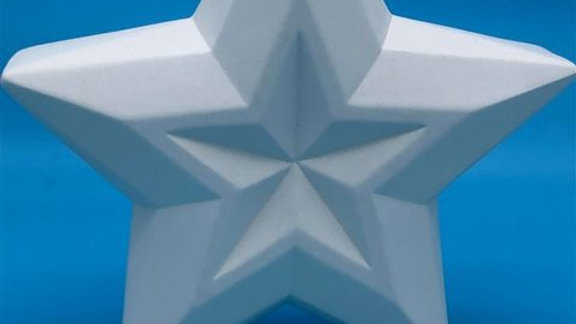 Large Faceted Standing Star