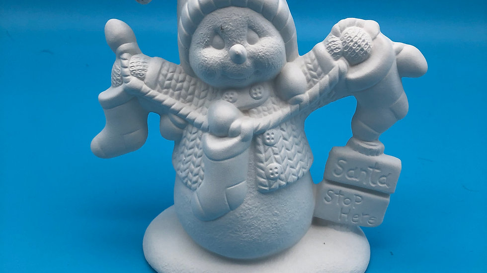 Snowman santa stop here!