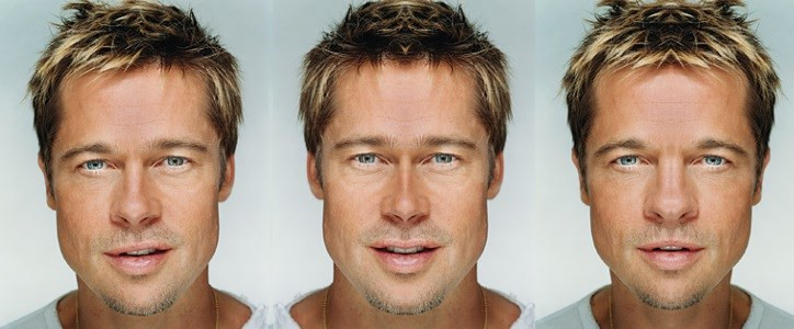 simetria facial brad pitt