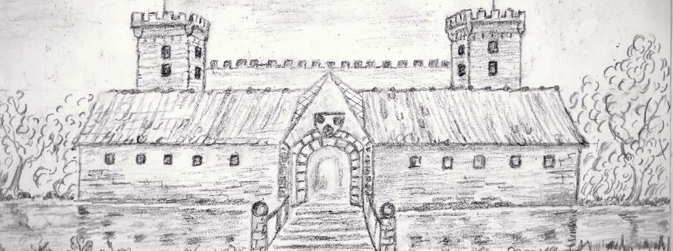 Burg Gillrath Zeichnung Paul Vallen