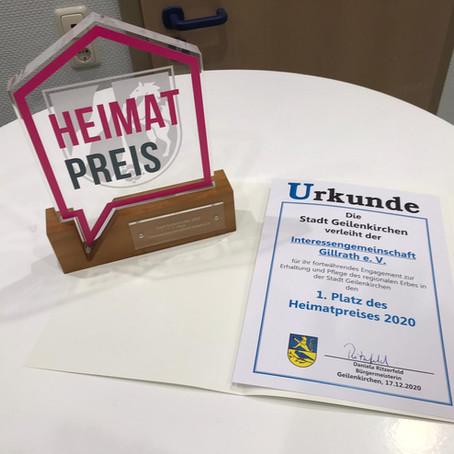Heimatpreis 2020 der Stadt Geilenkirchen für die Interessengemeinschaft Gillrath