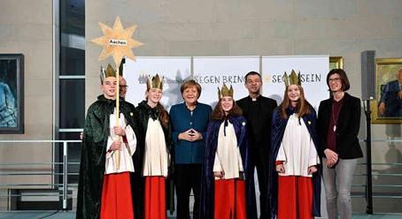 Gillrather Sternsinger zu Gast bei Angela Merkel