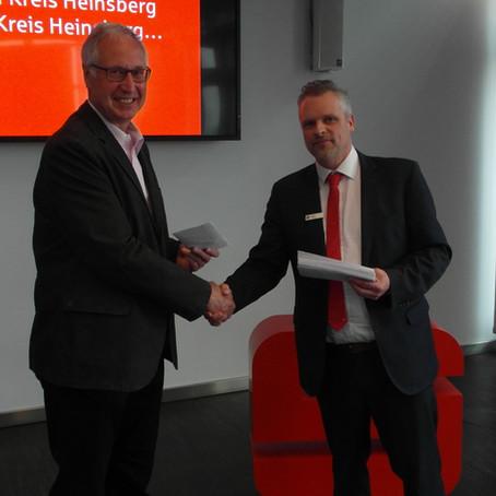 IGG freut sich über eine Spende aus Mitteln des PS-Zweckertrages der Kreissparkasse Heinsberg