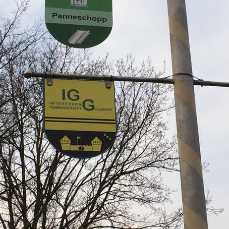 Wappen der IGG hängt am Wappenbaum