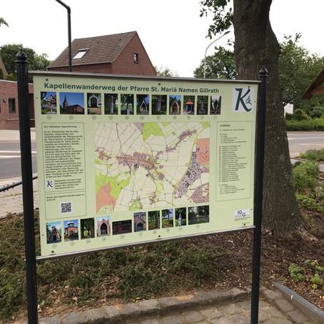 Infotafel für den Gillrather Kapellenweg aufgestellt
